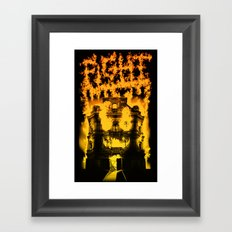 Fight with fire Framed Art Print