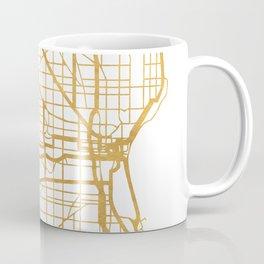 MILWAUKEE WISCONSIN CITY STREET MAP ART Coffee Mug