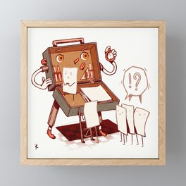 Stubborn piece of paper Framed Mini Art Print