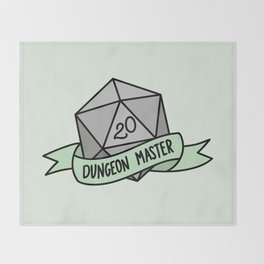Dungeon Master D20 Throw Blanket