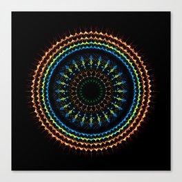 Decorative tribal Mandala artwork Canvas Print