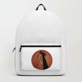 Electric post, glitchy design Backpack
