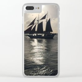 Pirate Sunset over Key West Clear iPhone Case