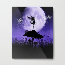 Fairy Silhouette 2 Metal Print