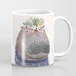 Hippo with flowers on head Coffee Mug