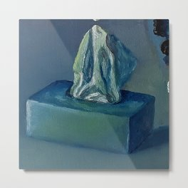 Tissue Box, Oil painting by Luna Smith Art, Luart Gallery Metal Print