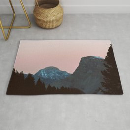 Twilight Mountain   Nature and Landscape Photography Rug