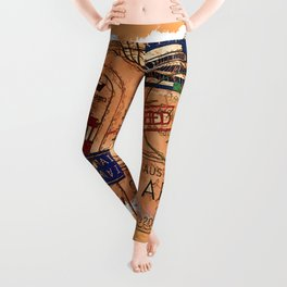 Entry Approved - Passport Stamps Leggings