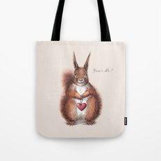 Squirrel heart love Tote Bag