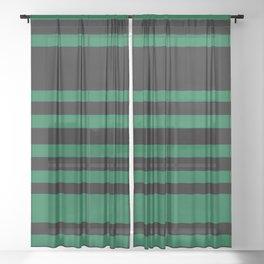 Green and Black Sheer Curtain
