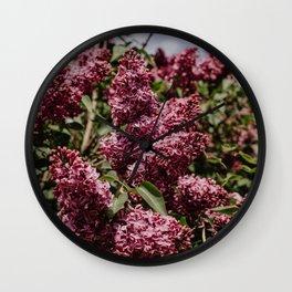 Lilac Flower Wall Clock