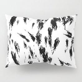 Black and White Brush Strokes Pillow Sham