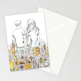 Holding Hands (3D papercut) Stationery Cards