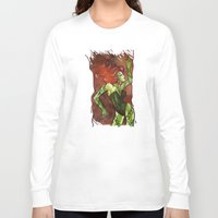 poison ivy Long Sleeve T-shirts featuring Poison Ivy  by Sako Tumi