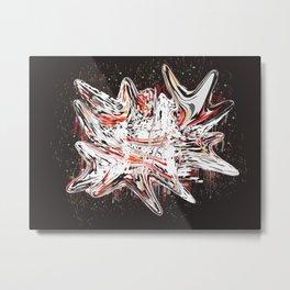 Mind bending Splat Metal Print