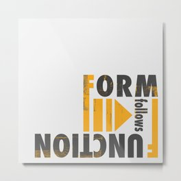 Forming the Quote Metal Print