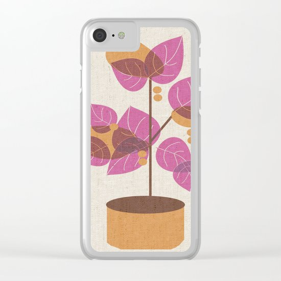 Purple Tree Clear iPhone Case