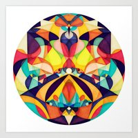 geometry Art Prints featuring Poetry Geometry by Anai Greog