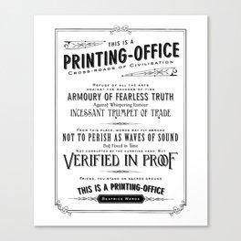 Printing Office Canvas Print