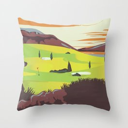 'For Golf' Northern Ireland Travel poster Throw Pillow