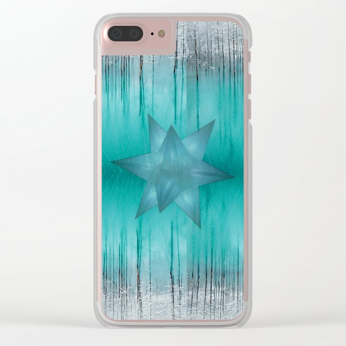 Crystal frozen star forest Clear iPhone Case