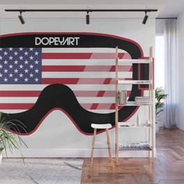 American Goggles - Distressed Black | Goggle Designs | DopeyArt Wall Mural