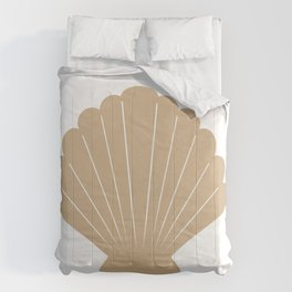 Seashell (Tan & White) Comforters