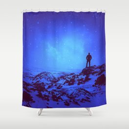 Lost the Moon While Counting Stars III Shower Curtain