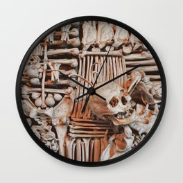 bones wall Wall Clock