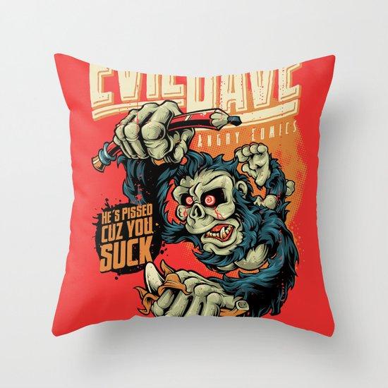 Evil Dave Throw Pillow
