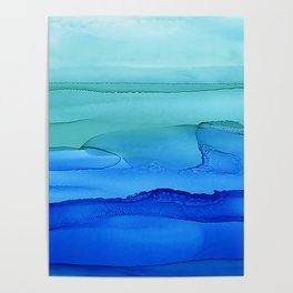 Alcohol Ink Seascape Poster