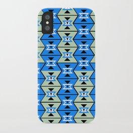 Blue shapes iPhone Case
