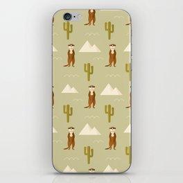 Desert full of meerkats iPhone Skin