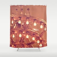 chandelier Shower Curtains featuring Bronze Chandelier by Jessica Torres Photography