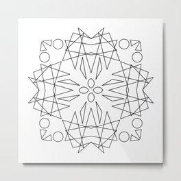 LINE ART MOSAIC KALEIDOSCOPE Metal Print