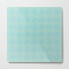 Ginkgo Foliage Pattern Metal Print