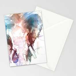 Elephant head / Abstract animal portrait. Stationery Cards