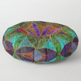The Flower of Life (Sacred Geometry) 2 Floor Pillow