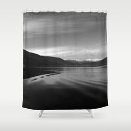Lake Monochrome Silence I Shower Curtain