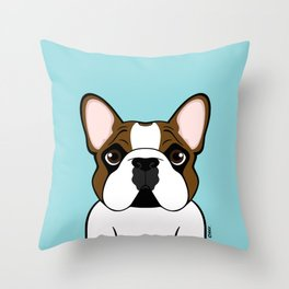 Frenchie - Fawn Pied Throw Pillow