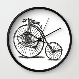 Old bicycle Wall Clock
