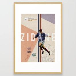 #10 Zidane Framed Art Print