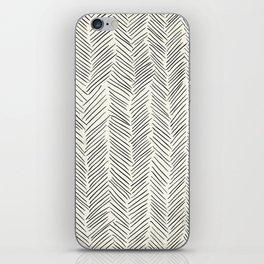 Herringbone Black on Cream iPhone Skin