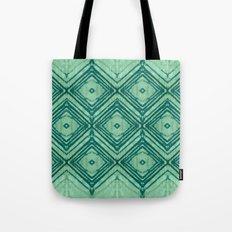 watercolor diamond seafoam green Tote Bag