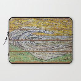 Waves on Grain Laptop Sleeve