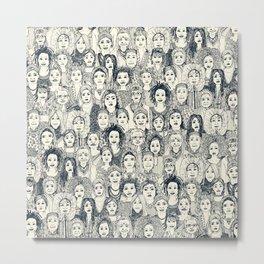 WOMEN OF THE WORLD INDIGO Metal Print