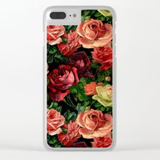 Vintage & Shabby-chic - floral roses flowers rose Clear iPhone Case