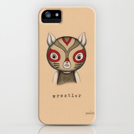 Cat Wrestler iPhone Case