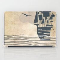 ship iPad Cases featuring Ship by Emily Rose Scott