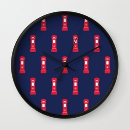 Red British post box Wall Clock